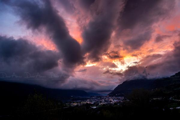Sunset after the Storm - Aosta
