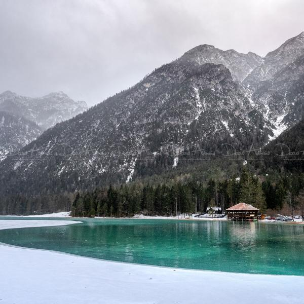 The icy lake of Dobbiaco